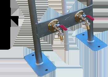 Dimensions borne de distribution 4 prises et 2 robinets ARC4P2R