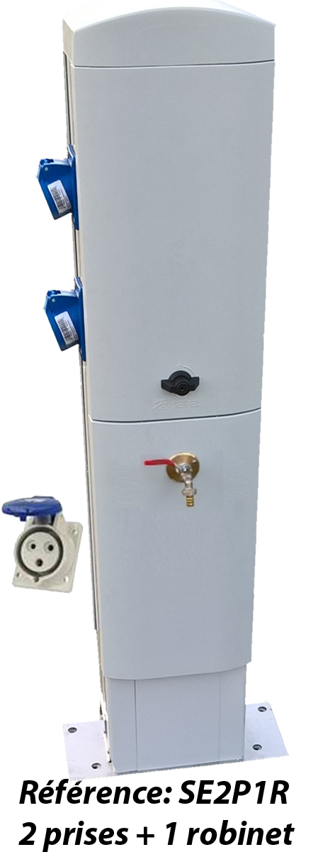 Borne de distribution 2 à 4 prises et 1 à 2 robinets